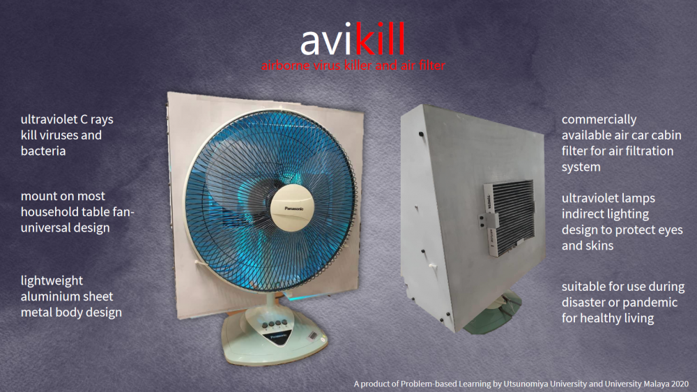 Airborne virus killer and air filter for healthy living