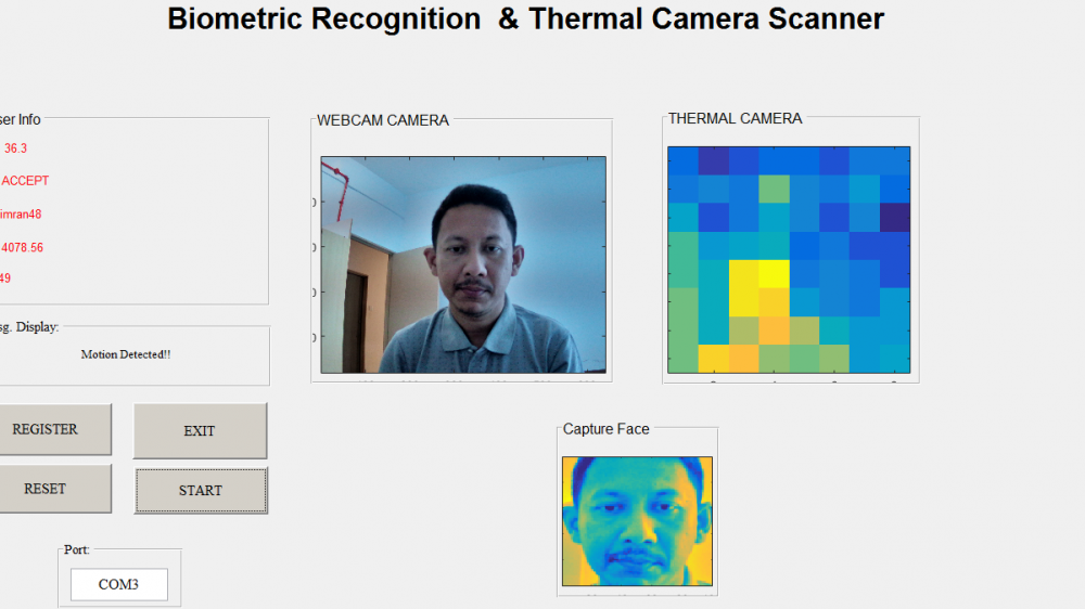 Biometric Recognition and Thermal Camera Scanner