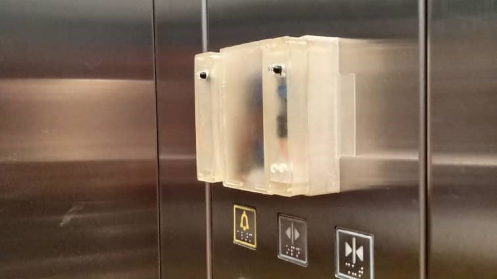 Touch-Less Key Control Panel for Elevator