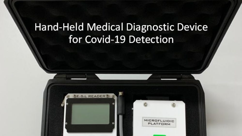 Hand-Held Medical Diagnostic Device for COVID-19 Detection